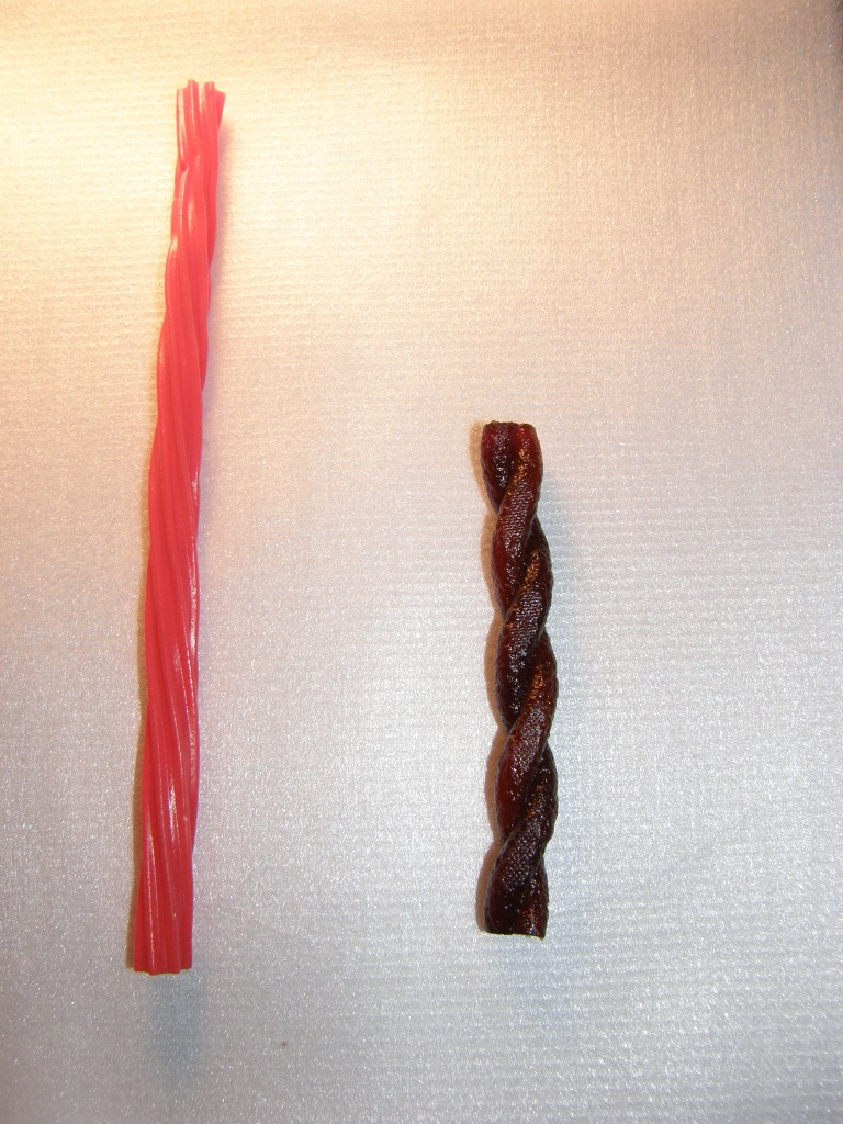 Twizzlers vs Graduates fruit twists