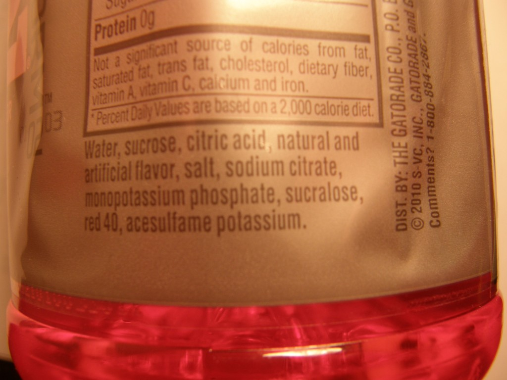 Gatorade ingredients
