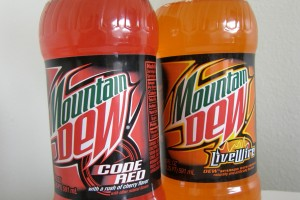 Mountain Dew: the colored twins