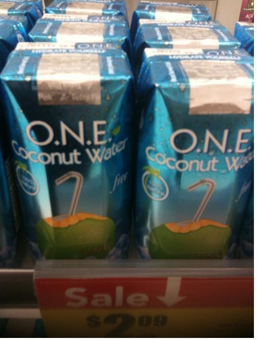 ONE Coconut Water, $2.09 per 11.2 FL OZ