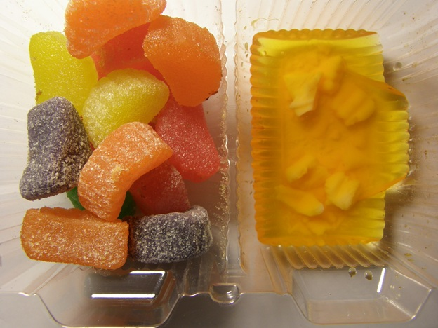 Fruit Slices and the orange one in water