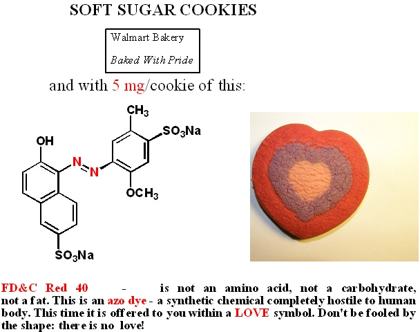 Soft Sugar Cookies with RED 40 Instead of LOVE