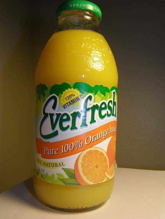 Everfresh Orange Juice: I don't like its taste