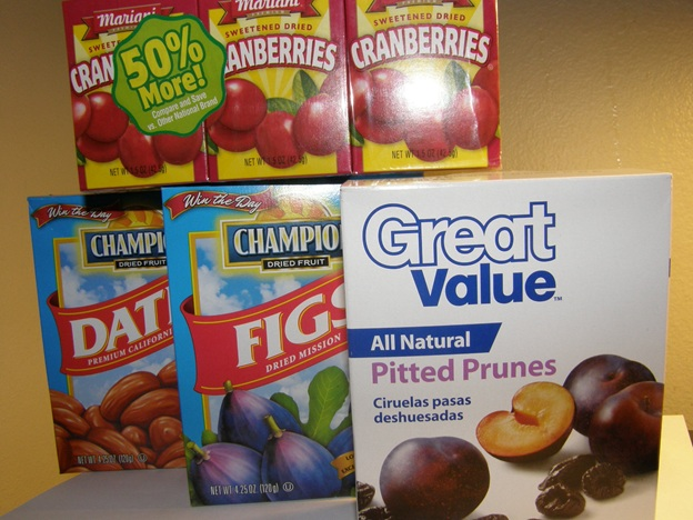 Dried Fruits from Walmart
