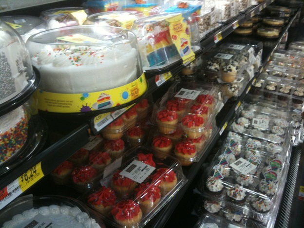 Inedible cakes of Walmart