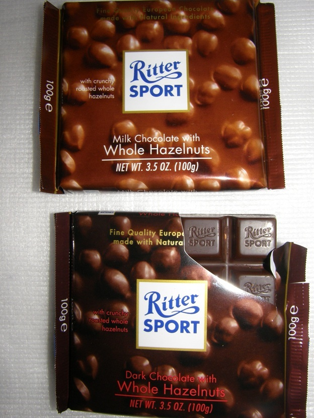 Ritter Sport Chocolate with Hazelnuts