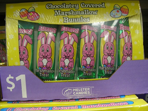 Chocolatey covered marshmallow bunnies made in USA