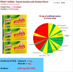 Knorr Bouillon Cubes_Health Risk, Nutrition and Dye content