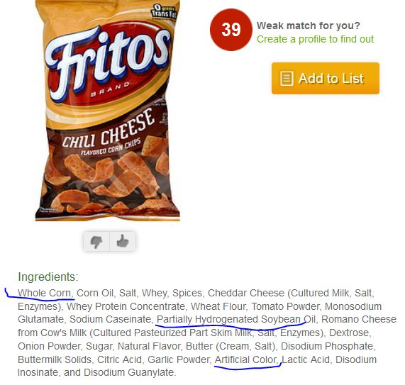 Fritos Corn Chips Ingredients List For Fritos Corn Chips