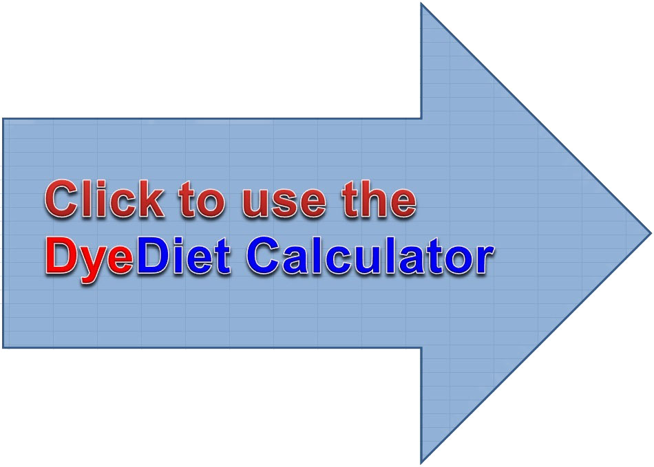 Click to use the Dye Diet Calculator