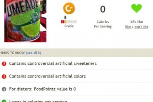 DyeDiet Calculator: Limeade vs Gatorade comparison