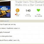 Fooducate results for Trader Joe's blueberry bar