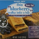 Trader Joe's blueberry cereal bar